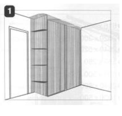 Создание чертежа шкафа-купе по схеме (пример) .